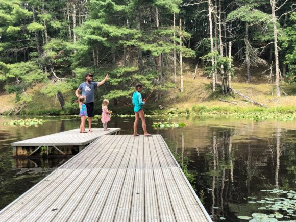 Camp Twin Creeks fishing