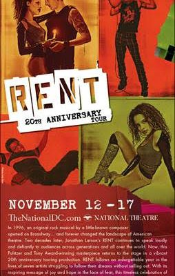 Giveaway: RENT at the National Theatre