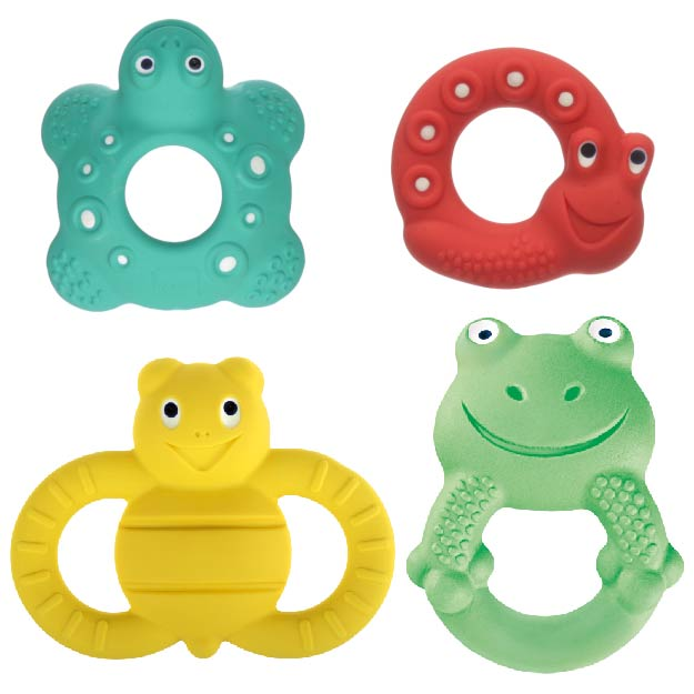 MAM Friends made from natural rubber are ideal for child development