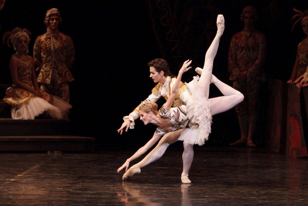 Heather Ogden and Guillaume Côté in The Sleeping Beauty.  Photo by Bruce Zinger.