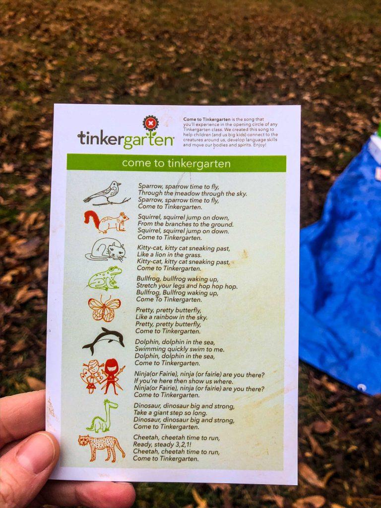 Come to Tinkergarten
