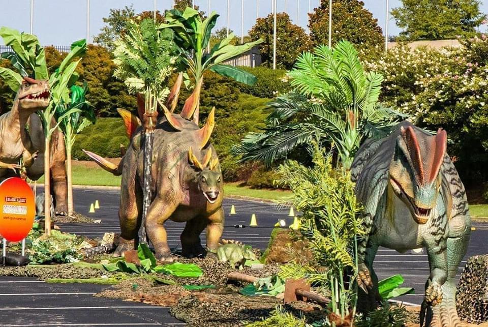 Jurassic Quest Drive-thru exhibit