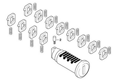 BMW Genuine Top Box / Side Case Lock Cylinder for F800GS