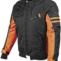 Speed and Strength Off the Chain 2.0 Men's Textile On-Road Racing Motorcycle Jacket - Black/Orange / Large