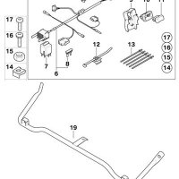 BMW Genuine R1200GS Adventure 08-up Motorcycle Auxiliary Headlight Mounting kit