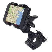 JIAFENG® New Universal Easy Clip-Grip Handlebar Bike Mount Holder for iPhone 4 4S 5 5S, Samsung Galaxy S5 i9600, S4 i9500, S3, Note 3 N9000, Note2 N7100, HTC One, New HTC one M8 and other smart phones, GPS devices. (Black)