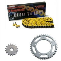 1990-1995 Yamaha XT600 O-Ring Chain and Sprocket Kit - Yellow