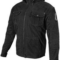 Speed and Strength Dogs of War Men's Textile On-Road Racing Motorcycle Jacket - Black / Large