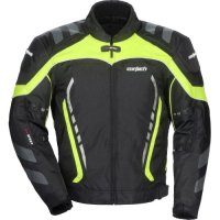 Cortech GX Sport 3.0 Men's Textile Road Race Motorcycle Jacket - Hi-Viz/Black / Large