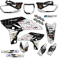 Senge Graphics 2007-2011 Yamaha WR 450F, Race Series White Graphics Kit