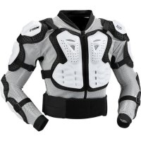 Fox Racing Titan Sport Jacket Men's Roost Deflector Motocross/Off-Road/Dirt Bike Motorcycle Body Armor - White / Medium
