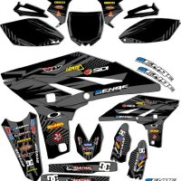 Senge Graphics 2005-2006 Yamaha WR 250/450F 4-Stroke Mayhem Black Graphics Kit