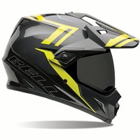 Bell MX-9 Adventure Barricade Dual Sport Helmet Hi Vis Yellow/Gray XL