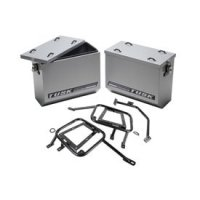 Tusk Aluminum Panniers with Pannier Racks Large Silver -Fits: KTM 1190 Adventure R 2014-2015