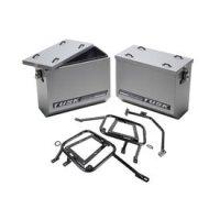 Tusk Aluminum Panniers with Pannier Racks Large Silver -Fits: KTM 1190 Adventure R 2014-2015