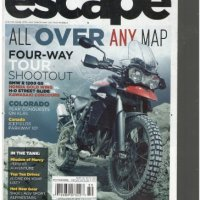 Motorcycle Escape Magazine (All over any map four way tour shootout, Winter 2010)