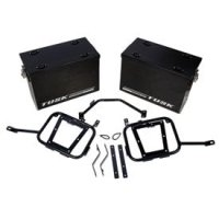 Tusk Aluminum Panniers with Pannier Racks Size Large Black Fits 2015 Suzuki DR650S Tusk part # 1467340003
