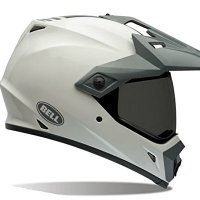 Bell MX-9 Adventure Solid White Offroad Motorcycle Helmet Size Medium