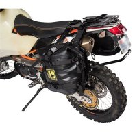 Tusk Pannier Racks with Wolfman Expedition Dry Saddle Bags BLACK - HONDA Africa Twin CRF1000 2016–2017