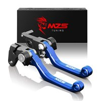 MZS CNC Pivot Brake Clutch Levers for Yamaha WR250F 2001-2017,WR450F 2005-2017 Blue