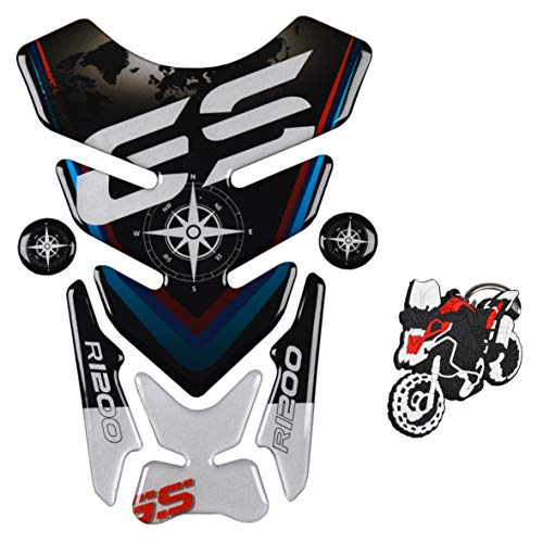Gold Logo Gas Tank Protector REVSOSTAR Motorcycle Reflective Sticker Tank Pad for R1200GS r1200gs GS Adventure ADV GS-Adv Tankpad with Keychain