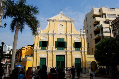 Macanese Architecture yellow church
