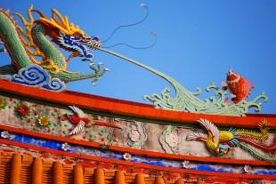 Dragon and Phoenix Temple Roof - Macau