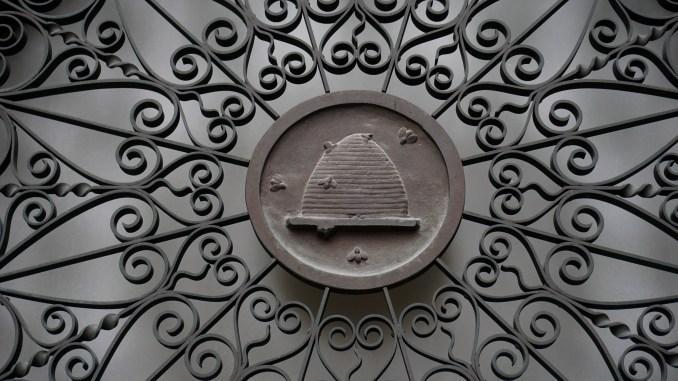 Salt Lake Temple window grate