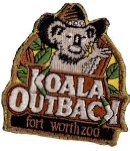 Fort Worth Zoo Koala Outback patch