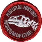 Natural History Museum of Utah Dinosaur patch