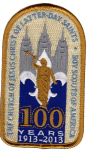 Boy Scouts of America and LDS Church 100 Years patch