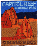 Capitol Reef National Park Sun and Moon patch
