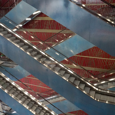 Escalators of the National Center for the Performing Arts