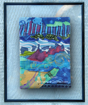 Note for a Friend #10, an art quilt by Ellen Lindner, AdventureQuilter.com