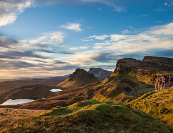 Quiraing landscape on the isle of Skye in Scotland