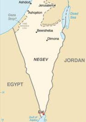 map of the negev desert