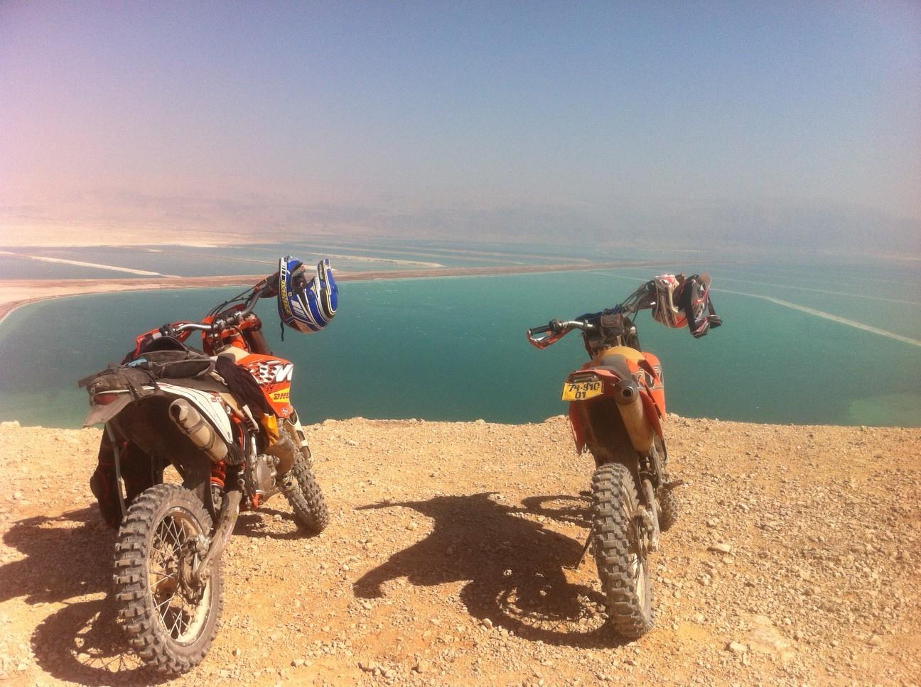 Overlooking the Dead Sea.