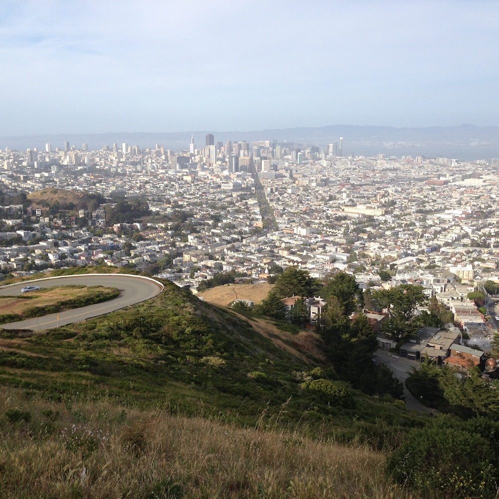 San Francisco from Twin Peaks lookout.