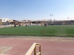 Soccer pitch at the Boardwalk.