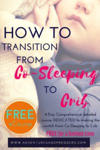 How to Transition from Co-Sleeping to Crib. Learn the key components to making the switch from co-sleeping to crib a blissful one. Don't miss out on the FREE 4 Day eCourse dedicated to making the switch from Co-Sleeping to Crib seamless. Sign up now before its gone!