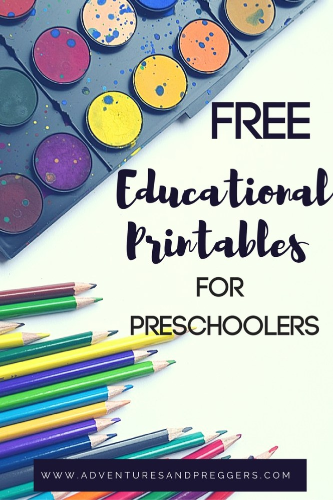 Fantastic Free Printables for Preschoolers. Click to print now