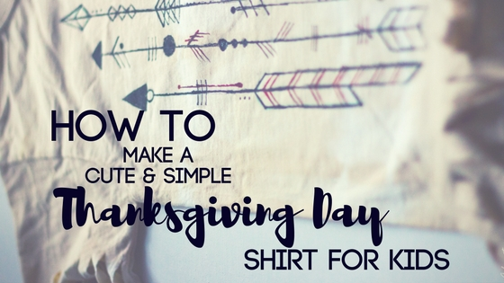 How to Make A Cute and Simple Thanksgiving Day Shirt for Kids