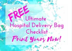 Free Hospital Delivery Bag Checklist