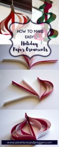 How to Make Easy Paper Ornament - Craft an easy paper ornament for the holidays or just to enjoy hanging in the house. These paper ornaments require little mess and are great for young children.