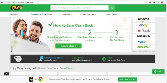ebates daily deals