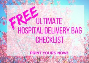 hospital delivery bag checklist option