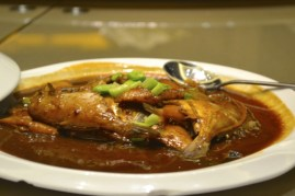 fish in brown sauce