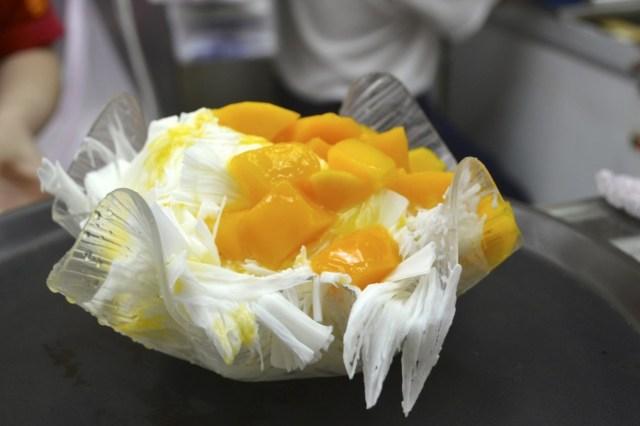 Mango shaved ice cream