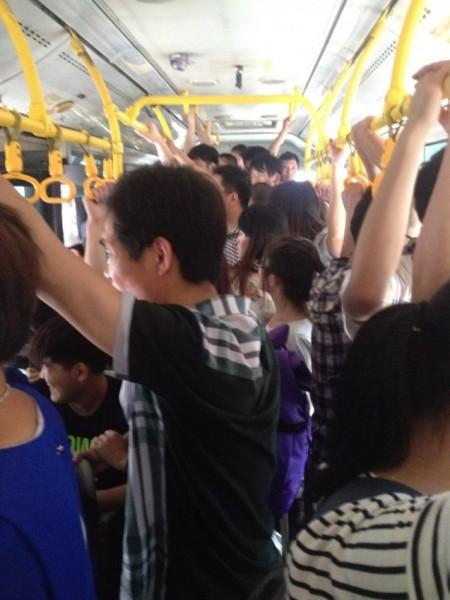China bus crowded