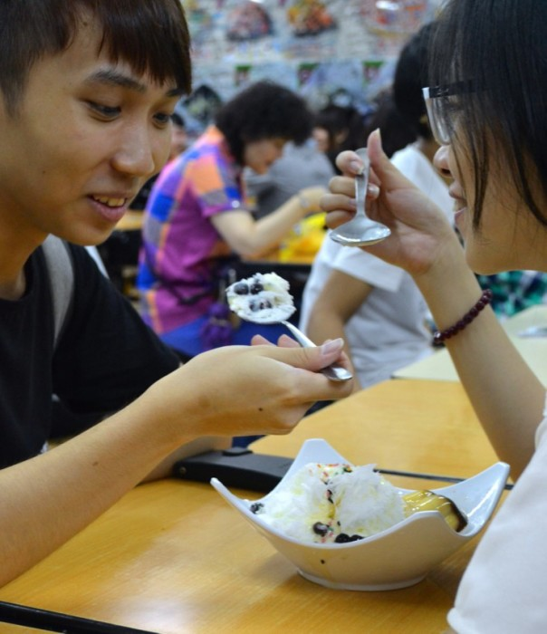 couple sharing ice cream Taiwan